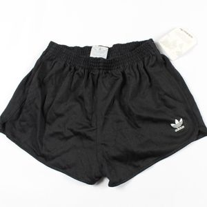 Vintage New Adidas Trefoil Spell Out Shorts Black
